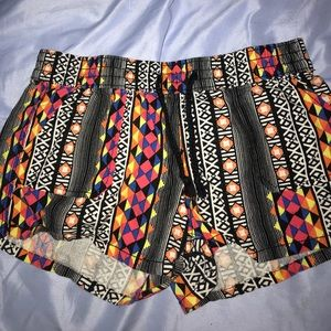 Colorful Tribal Print shorts